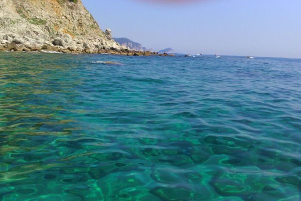 emerald green sea aboard LaZigoela