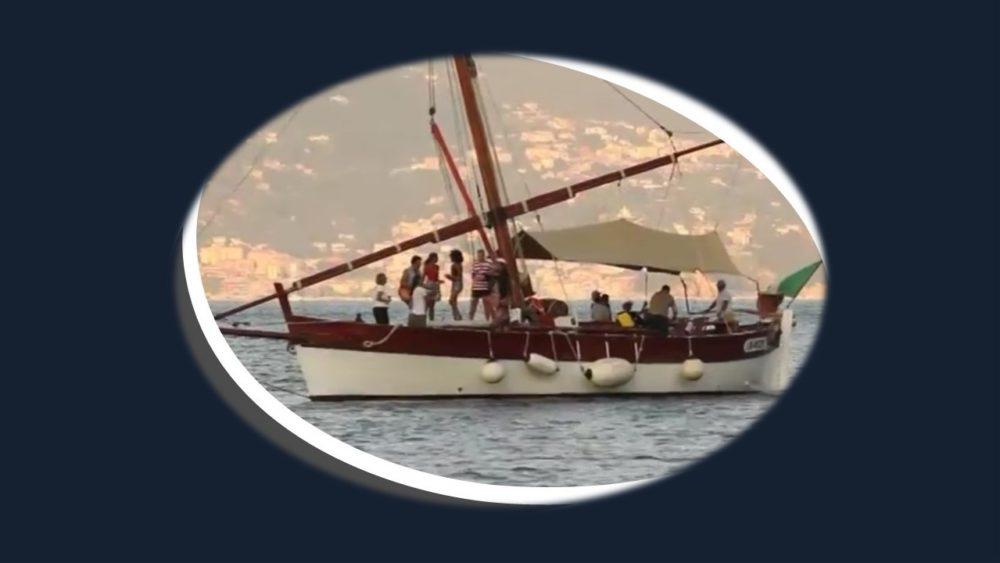 Sailing Boat to the music rhythm