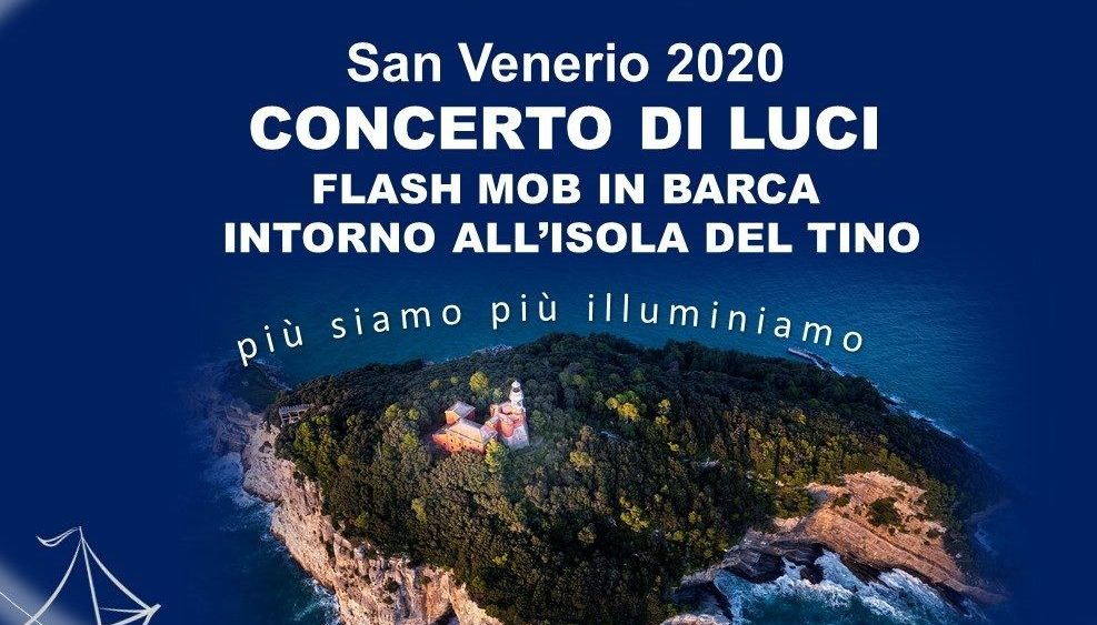 Flashmob, concerto di luci all'isola del Tino